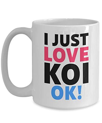 N\A Ich Liebe Koi Kaffeetasse für Koi Liebhaber Koi Besitzer Fisch