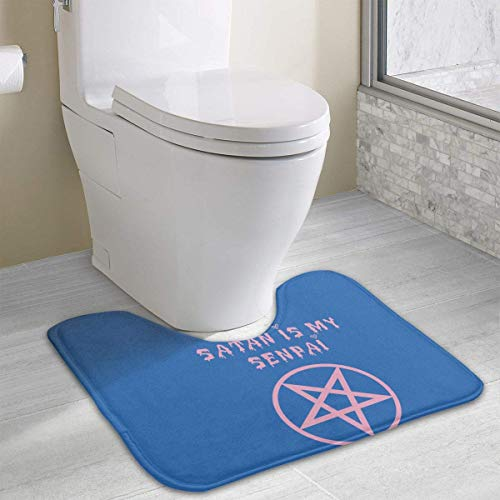 Hoklcvd Satan ist Mein Senpai Rutschfeste Kontur Badematte für WC, saugfähiges Wasser, perfekt für Badezimmer. Kaufen Sie online Badematten zu den besten Preisen