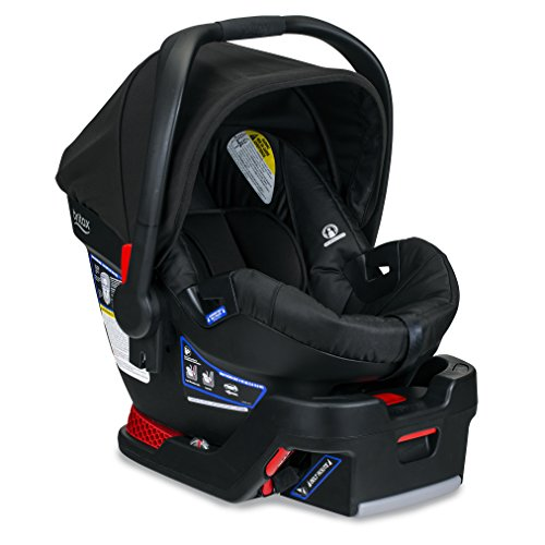 BRITAX B-Safe 35 Infant Car Seat - Rear Facing | 4 to 35 Pounds - Reclinable Base, 1 Layer Impact Protection, Raven (E1A728Y)