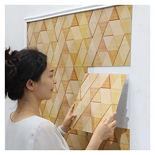 KJHJ Pegatina de Pared a Prueba de Agua Continua autoadhesiva de 10 Piezas Bricolaje Decoración para el hogar Calcomanías de Pared 3D Grano de Madera Creativo Fondo de Pantalla 723