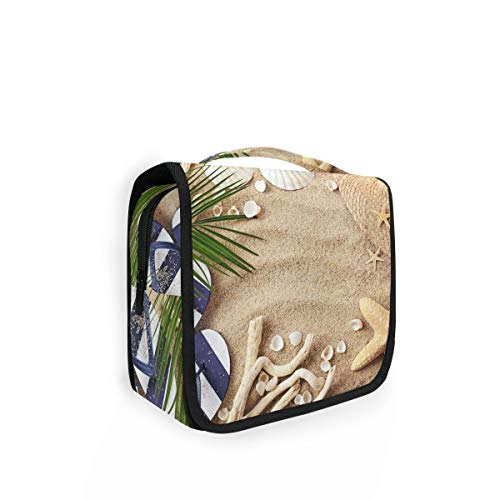 XIXIKO - Bolsa de aseo para colgar con diseño de pájaro de pavo real y flores, para viajes, bolsa de maquillaje, plegable, para mujeres, niñas, señora
