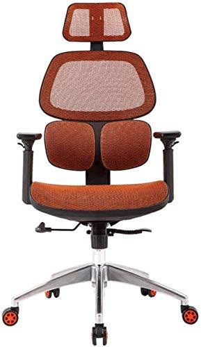 THBEIBEI Silla de ordenador para el hogar, silla giratoria para juegos, silla de oficina, silla reclinable ergonómica, silla de oficina, silla de ordenador, de malla transpirable (color: rojo)