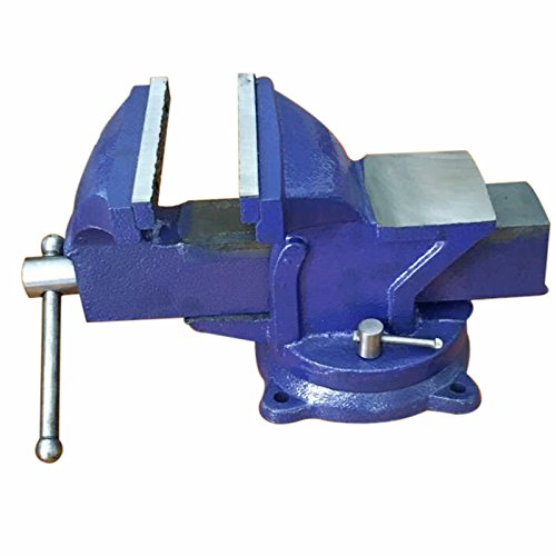 5' Jaw Bench clamp Vice, 360-Degree Swivel Base Bench Vise with Workshop Swivel Locking Base Clamp Work, for Any Workshop, Factory or shed