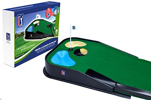 PGA Tour Indoor und Outdoor Putting Matte, Blue, Green, 39.4LX11.4WX52.7H cm