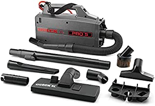 Oreck Commercial XL Pro 5 Super Compact Canister Bagged Vacuum Cleaner with Attachments, Lightweight Carriable Portable Professional Grade, 5 Pounds 30-Foot Long Cord, BB900-DGR, Black