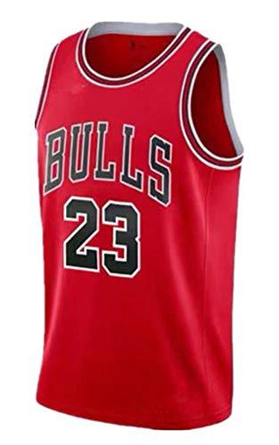 NIDAYE Trikot 98 Classic rot 23 Basketball Anzug rot Retro weißes Trikot-red-S