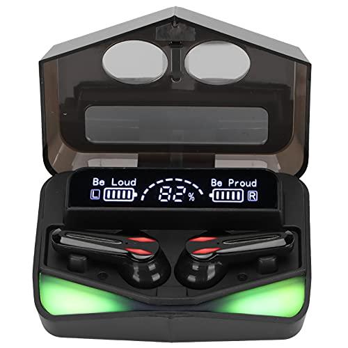 Snufeve6 Cuffie, Auricolari True Wireless Professionali Doppia decodifica Doppia modalità per Il Gioco(Nero)