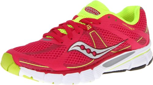 Saucony Women's Mirage 3 Running Shoe,Pink/Citron,8.5 M US