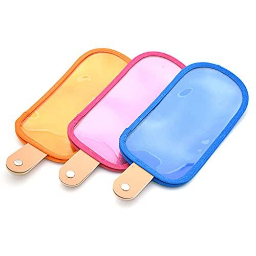 YFQX, Caja de Gafas, Three-Color Creative Fashion Personalidad Teléfono móvil Bolsa de Gafas, Helado Forma Bolsa de Almacenamiento Gafas de Sol Bolsa 3 Paquetes