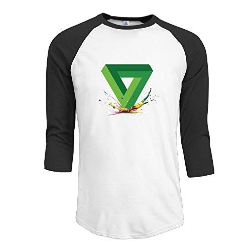 Evaly - Camiseta de Manga 3/4 para Hombre, diseño de triángulo de Penrose