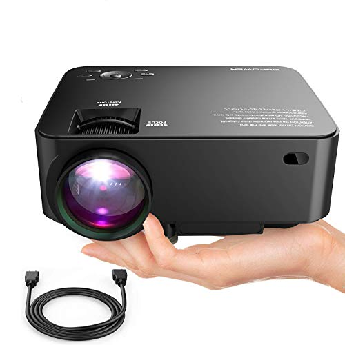Image of DBPOWER T20 LCD Mini Movie Projector, Multimedia Home Theater Video Projector with HDMI Cable, Support 1080P HDMI USB SD Card VGA AV TV Laptop Game iPhone Android Smart-Phone: Bestviewsreviews
