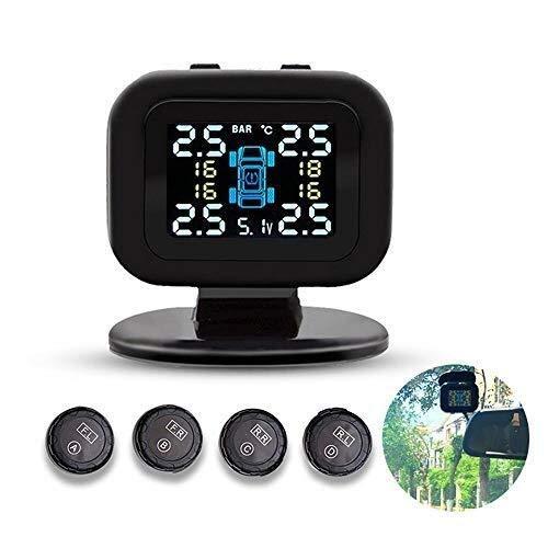 Hcxh-A Sistema de monitoreo de presión de neumáticos inalámbrica, Sistema TPMS LCD en Tiempo Real de presión de neumáticos de monitoreo, Modos 6 de Alarma, con 4 sensores externos