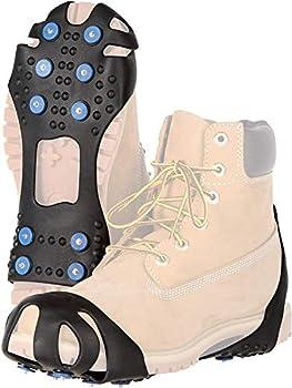 Ultrasport Couvre-Chaussure, Crampons et Griffes pour Une Adhérence Sûre sur Les Surfaces Glissantes, L 22 x 13 cm Mixte Adulte, Noir, L / 38-42