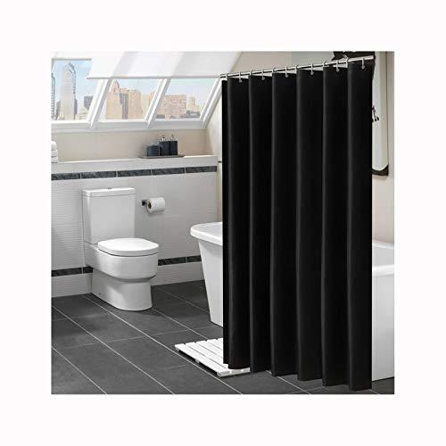 Daesar Bad Vorhang für Badezimmer Schwarz Lustiger Duschvorhang aus Polyester-Stoff 100x180 cm
