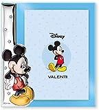 Disney Baby - Mickey Mouse - Marco de fotos decorativo - Ideal para habitaciones infantiles - Plata - Imagen de Mickey en 3D y en color