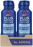 Atkins Plus Protein Low Carb Low Sugar Shake, 400ml, Pack of 6
