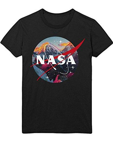 Camiseta de Hypeshirt con logotipo de NASA Volcano K123451 Negro L