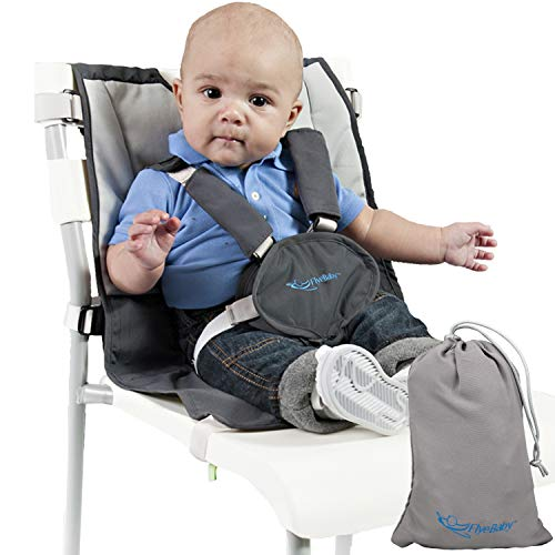 Sit with Us On-The-Go Portable Baby High Chair - Turn Any Chair into a Highchair - Fully Adjustable Infant Hook On Travel Seat w Safety Shoulder...