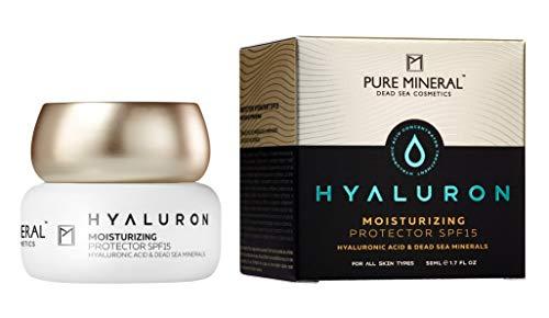 Pure Mineral Hyaluron Tagescreme SPF-15 Angereicherte Hyaluronsäure und Natürliche Totes Meer...