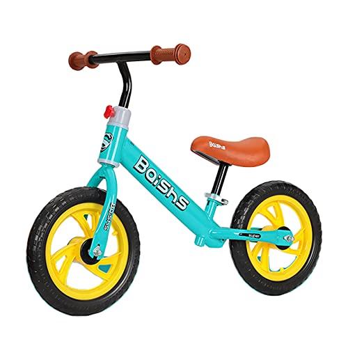 HLEZ Bicicleta Sin Pedales Bicicleta De Equilibrio para Niño De 2-5 Años Asiento Ajustable Bicicleta para Niños Pequeños De 12 Pulgadas para Regalo De Cumpleaños De Niño/Niña,Verde
