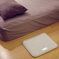 BEYST Heavy Sleepers Alarm Clock LED Digital Rug Carpet Clock Customizable USB Clock Pressure Sensitive Floor Mat Alarm Clock w/Memory Foam Pad & Soft Flannelette for Kids