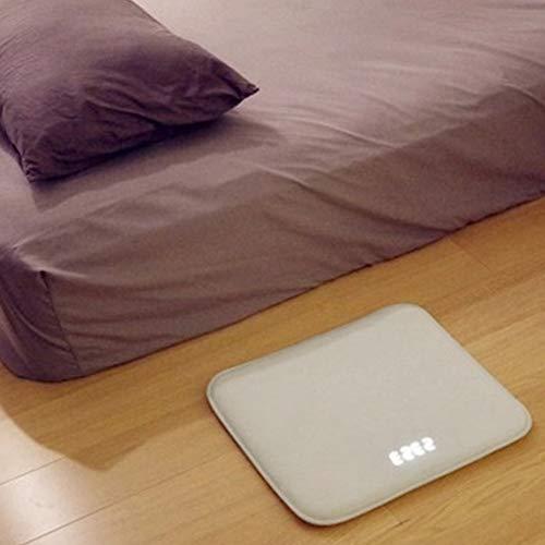 Heavy Sleepers Reloj despertador LED digital alfombra reloj personalizable USB sensible a la presión, reloj despertador con almohadilla de espuma viscoelástica y franela suave para niños