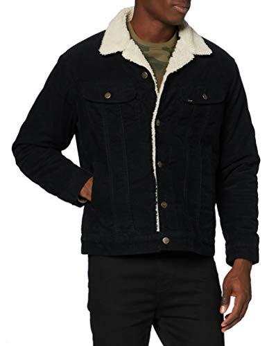 Lee Sherpa Jacket Chaqueta Vaquera, Black, L para Hombre