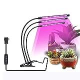 Lámpara de Plantas, JoaSinc 57 LED Luz de la Planta Iluminación 27W, LED Grow Light Full Spectrum para Plantas de Invernadero, Rotación de 360° y Función de Temporizador, 3 Tipos de Modo