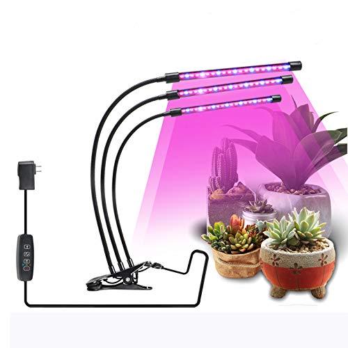 JoaSinc Pflanzenlampe LED Vollspektrum, Pflanzenlicht 27W Pflanzenleuchte, 57 LEDs Wachstumslampe Wachsen licht Grow Lampe Vollspektrum für Zimmerpflanzen mit Zeitschaltuhr, 3 Arten von Modus