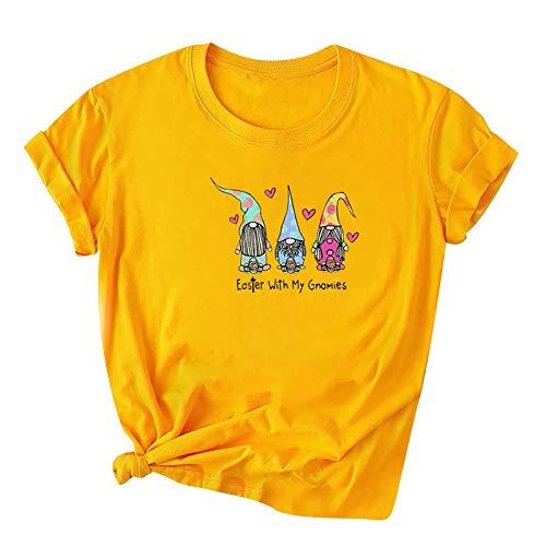 Honestyi Camisetas Mujer Camiseta Manga Larga Tops Deportivos Mujer Baratos Tops Mujer Verano Sexy Camiseta Casual de Dibujos Animados Lindo Multicolor y multicódigo S-3XL