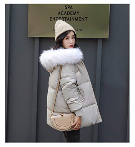 ZYJANO Lange donsjack, dames winterjassen en jassen 2019 Parkas voor vrouwen zwarte Kleuren Gewatteerde Jassen warm Bovenkleding Met een Hood Grote Faux Bont Kraag