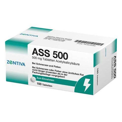 Ass 500 mg Zentiva Pharma GmbH 100 Tabletten