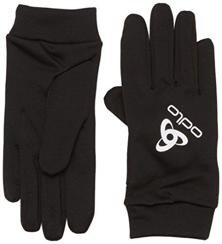 Odlo 777000–Guantes de Running Unisex, Color Negro, tamaño XS