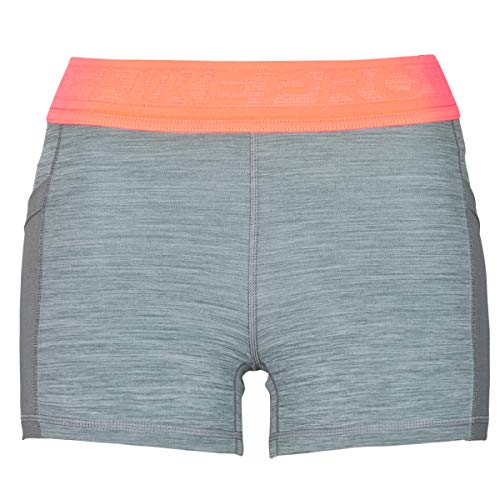 Nike DA0485-084 W NP 3IN Short Femme NVLTY PP2 Pantaloncini Sportivi Donna Smoke Grey/Htr/Bright Mango/(White) L