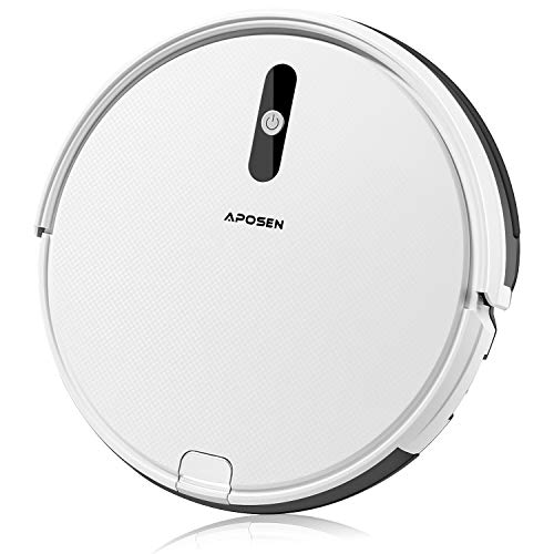 APOSEN A450 Robot Vacuum,1500Pa Strong Suction Robotic Vacuum Cleaner, Self-Charging Vacuum with XL Capacity Dustbin,Ultra-Quiet Ideal for Pet Hair and Low-Pile Carpets& Most Floor Types,White Dining Features Kitchen Robotic Vacuums