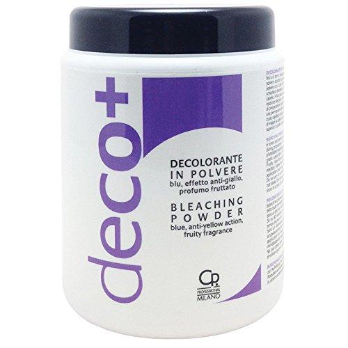 DECO+ Polvere Decolorante Vaso Blu - Trattamento Professionale Decolorazione Antigiallo - Capelli Biondi Perfetti - Per Schiarire Fino a 6 Toni - 500 g