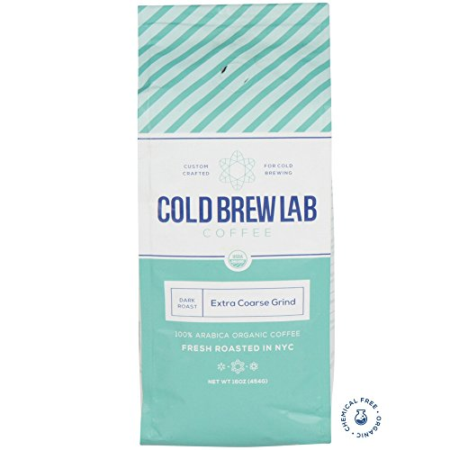 Cold Brew Lab Ground Organic Coffee Crafted for Cold Brewing, Extra Coarse Grind Size, Dark Roast, 1...