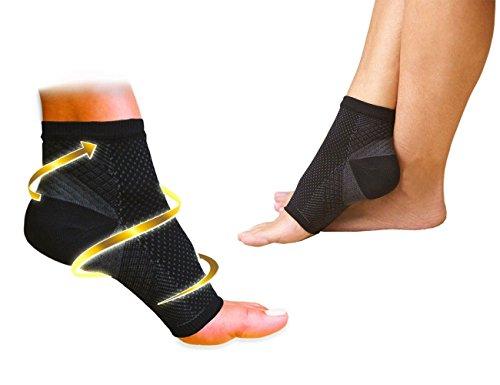 Foot Angel - Set di 2 cavigliere a compressione antistress del piede