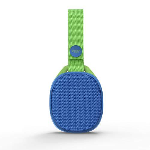 Vieta Pro Lautsprecher für Kinder, tragbar, Bluetooth 5.0, UKW-Radio, USB-Player, Mikrofon, AUX-In-Eingang, IPX7, kabellose True Funktion, 5 Stunden Akkulaufzeit Blau und Grün