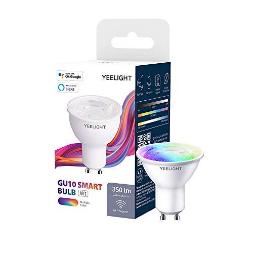 Lampadina Wi-Fi Yeelight GU10 W1, 4,5 W 350 lumen Nessun hub richiesto Supporto luce LED a colori intelligente Sincronizzazione musicale, Assistente Google Controllo vocale Alexa