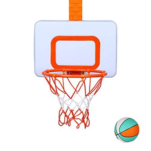 DUTUI Soporte De Baloncesto para Niños, Aro De Baloncesto para Tiro En Interiores Que Se Puede Subir Y Bajar, Mates Colgantes Y Juguetes Convenientes