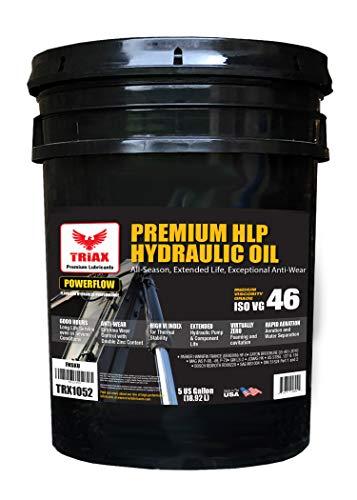 Triax POWERFLOW HLP ISO 46 Medium Hydraulic Oil   6000 Hr Extended Life   Double Anti-Wear   True All Season   - 40 F Pour Point (5 GAL)