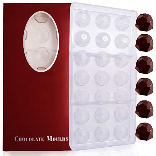 BESTZY Moldes de Chocolate moldes de Caramelo, moldes de policarbonato para Chocolate, Suministros para Hacer Dulces de Chocolate casero DIY Personalizado Chocolate Candy