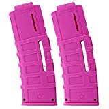 Soft Bullet Clip, 15 Dardos Quick Reload Clip Magazine, Soft Foam Ammo Cartridge Toy Gun Clips para Nerf Series Blaster (Pink-2PCS)