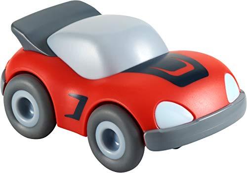 HABA 304711 - Kullerbü – Roter Sportwagen, Zubehör für alle Kullerbü-Bahnen, mit Schwungmotor, ab 2 Jahren