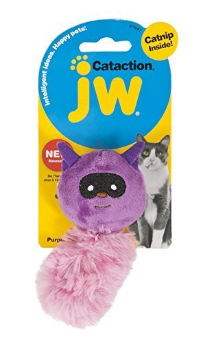 JW Cataction Catnip Raccoon Toy, Multicolor by Doskocil