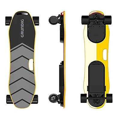 GRUNDIG Electric Skateboard Electric Board, Self Balancing E-skateboard 35.5 inch Longboard with 360W Dual Motors, 9 Layers Maple Wood Deck, Max Speed 25 km/h and Endurance 18 km