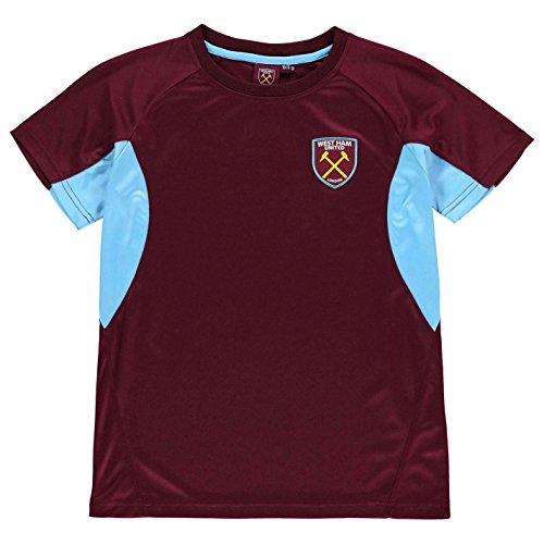 Source Lab West Ham United - Camiseta de manga corta para niño Vino tinto/azul. 7-8 Años