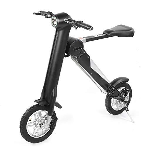 Patinete eléctrico, patinete eléctrico de motor sin escobillas de 36 V / 250 W, bicicleta eléctrica ultraligera de aleación de aluminio con luz(European regulations)