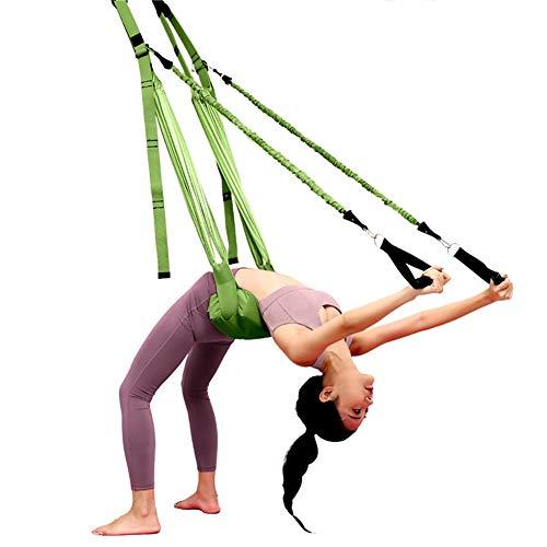 WOERD Correa de Yoga Aéreo El Yoga Antigravedad Hamaca Correa Volar Adjustable Leg Stretcher Back Bend Assist Trainer, Correa Ajustable de OscilacióN de la Puerta para YogaC